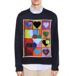 JW Anderson - Hearts patch cotton jersey sweatshirt