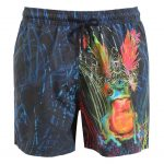 Etro - Psychedelic frog printed swim shorts