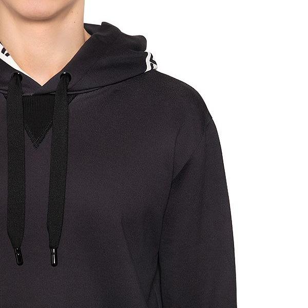 Dolce & Gabbana - Hooded logo tape print cotton sweatshirt