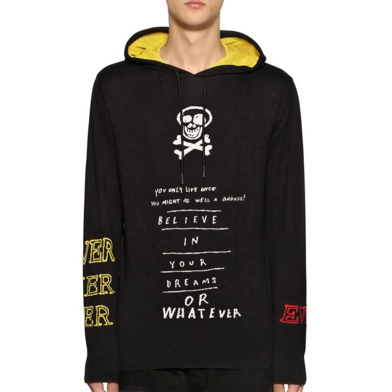 Diesel - Hooded cotton jacquard knit sweater