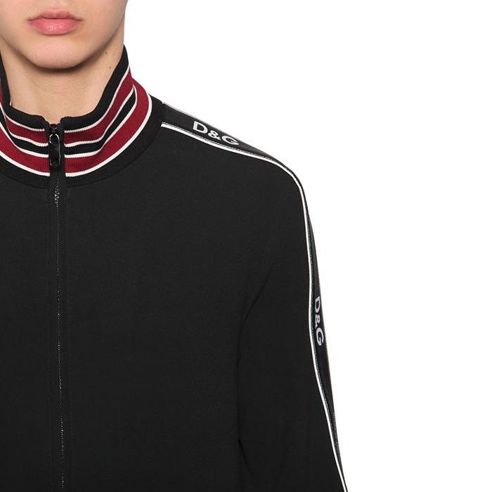 Dolce & Gabbana - Tech viscose blend zip-up sweatshirt