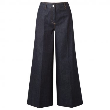 Elizabeth & James - Ace cropped high-rise wide-leg jeans