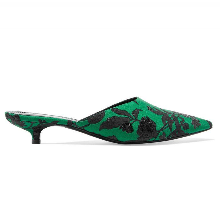 Farida Kitten Heels Green