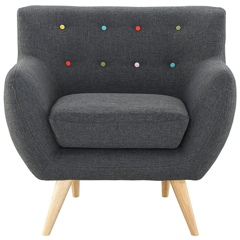 Modway Remark Mid-Century Modern Armchair With Upholstered Fabric In Gray
