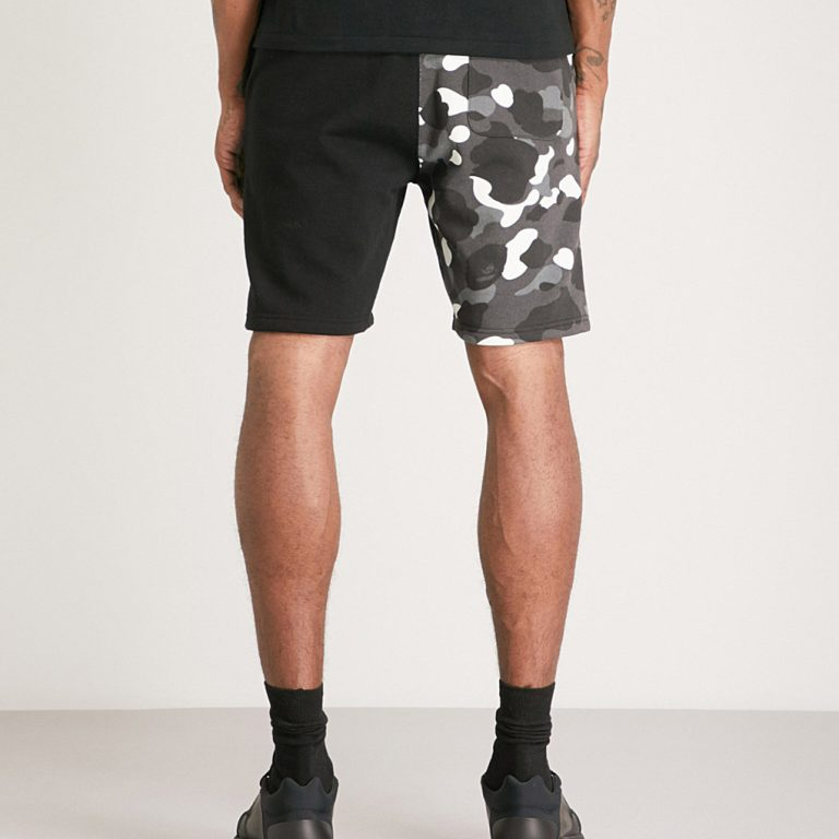 A Bathing Ape - Shark Camouflage-Print Shorts