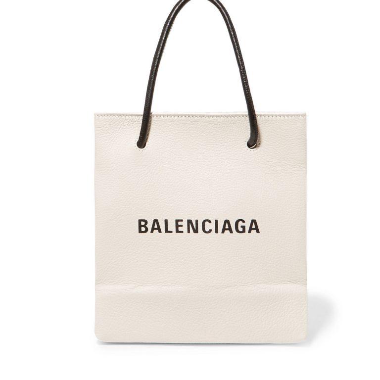 Balenciaga - Printed Leather Tote