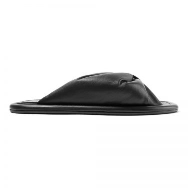 Balenciaga - Ruched leather slides