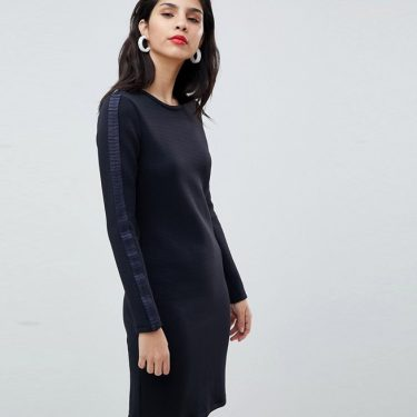 Boss - Casual Knitted Dress with Pleat Detail