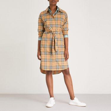 Burberry - Isotto Checked Cotton Shirt Dress