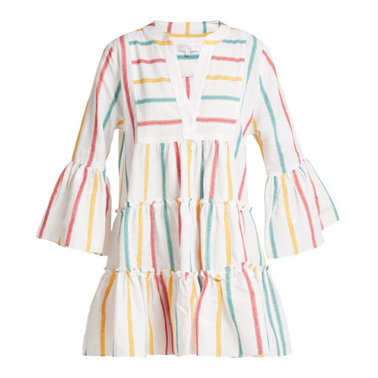 Caroline Constas - Lyssa Striped Cotton-Blend Dress