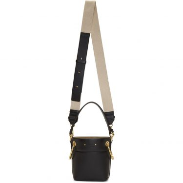 Chloe - Black Mini Roy Bucket Bag