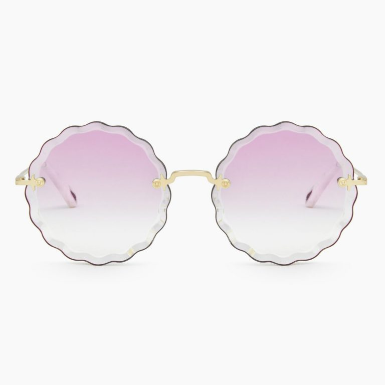 Chloe - Rosie Flower Sunglasses in Metal