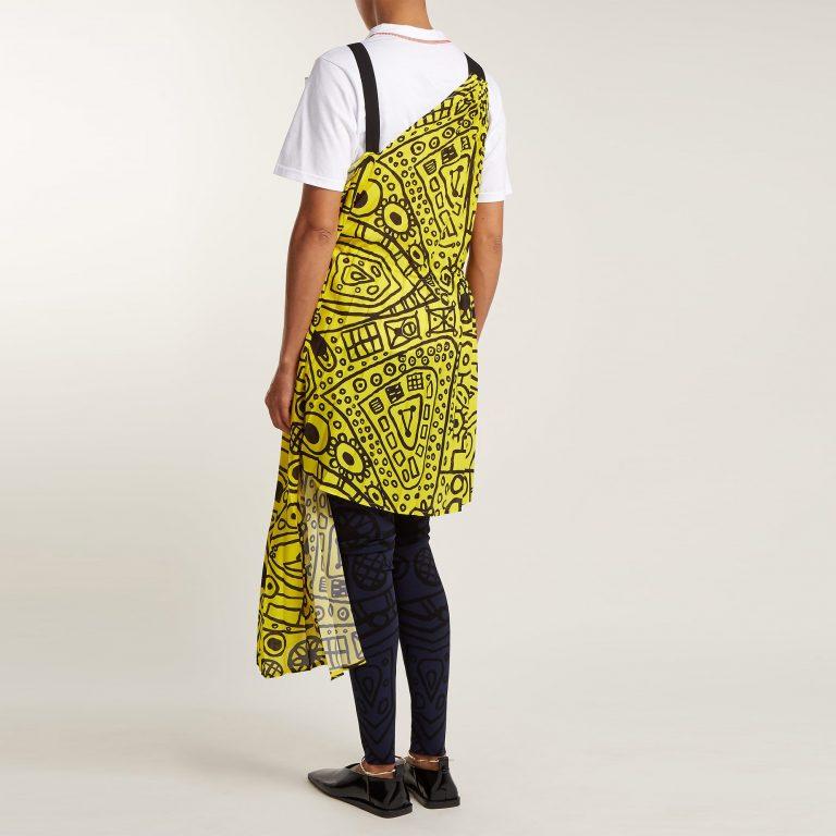 Colville - Abstract-Print Asymmetric Tie-Waist Dress