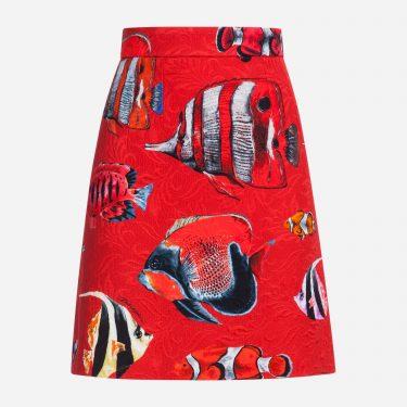 Dolce & Gabbana - Printed Brocade Skirt
