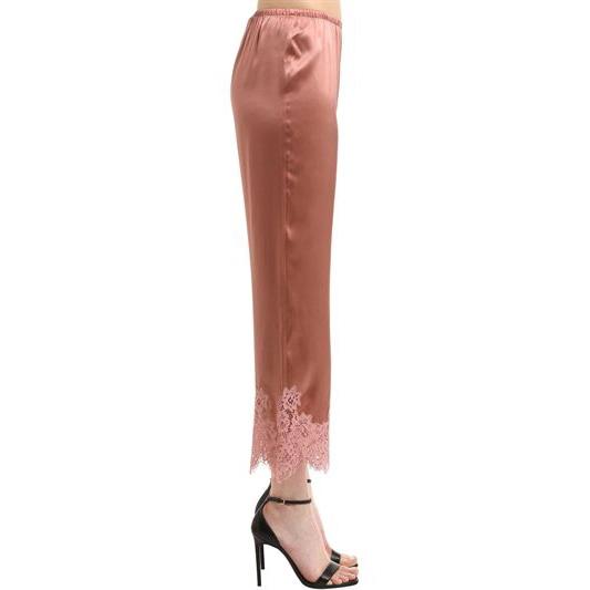 Ermano Scervino - Lace & Silk Satin Pants