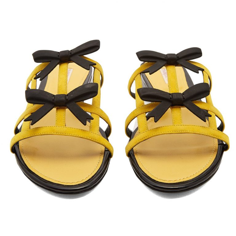 Fabrizio Viti - City Bow-Embellished Suede Slides