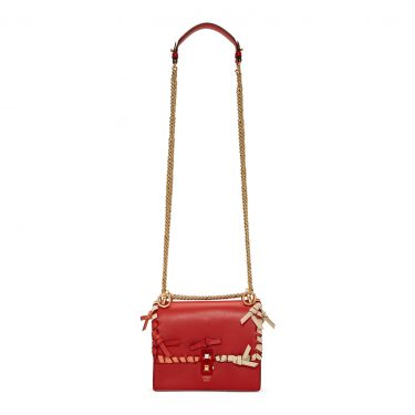 Fendi - Red Small Whipstitch 'Kan I' Bag