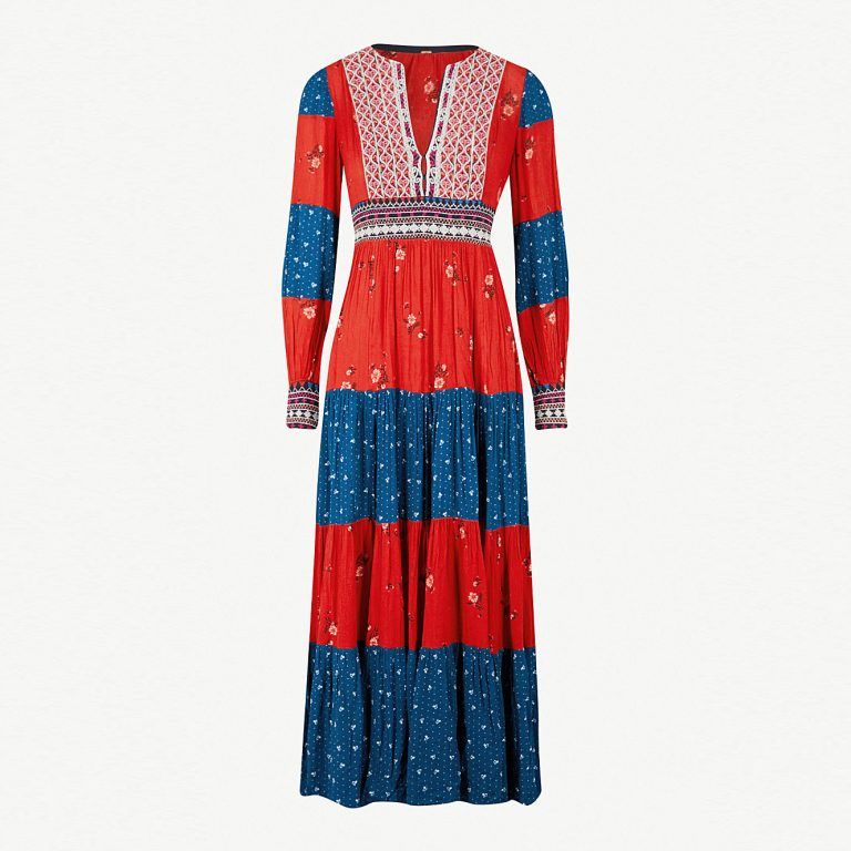 Free People - Patchwork Woven Maxi Dress
