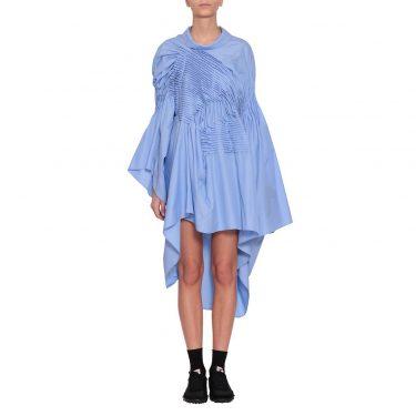 Junya Watanabe - Asymmetric Pleated Shirt Dress