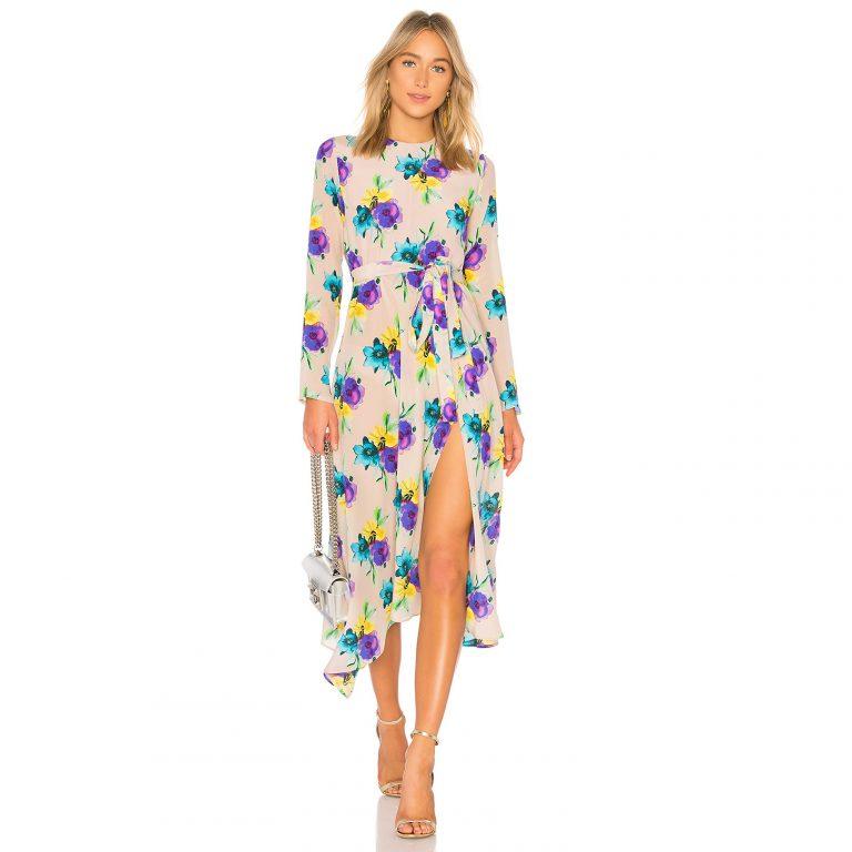 MSGM - Floral Midi Dress