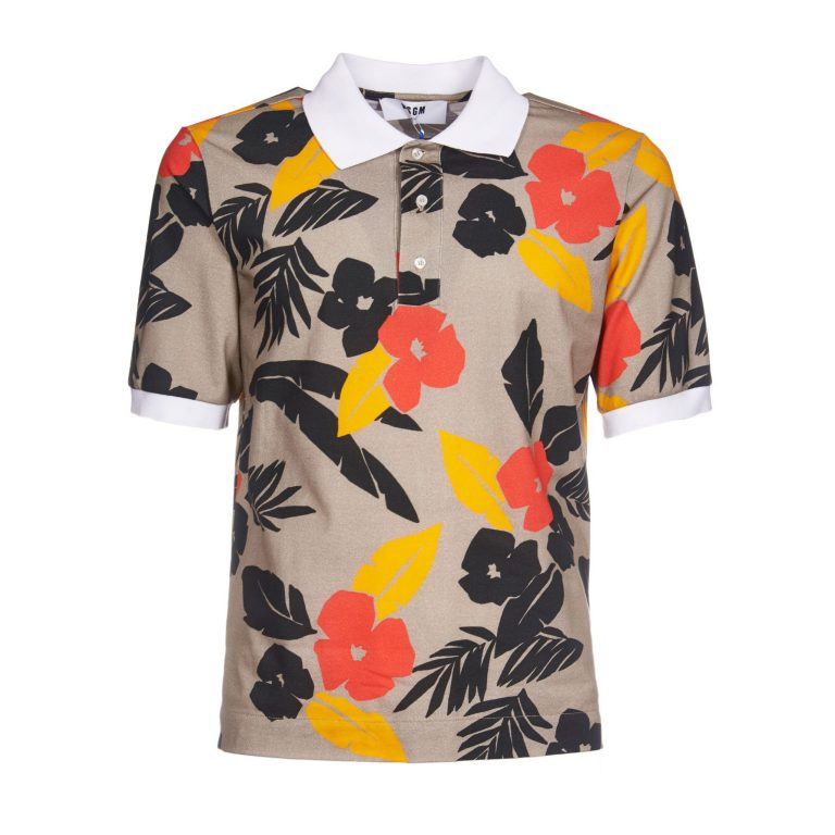 MSGM - Tropical Print Polo Shirt