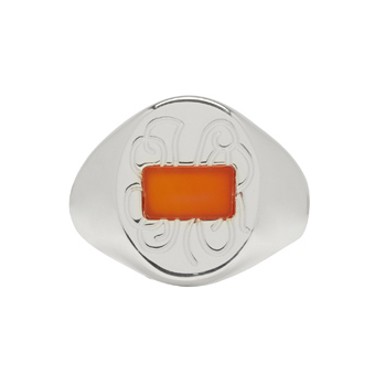 Maison Margiela - Silver & Orange Ring
