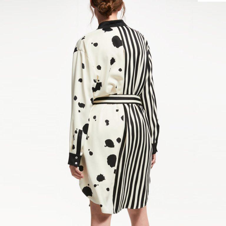 Marella - Stripe Spot Shirt Dress