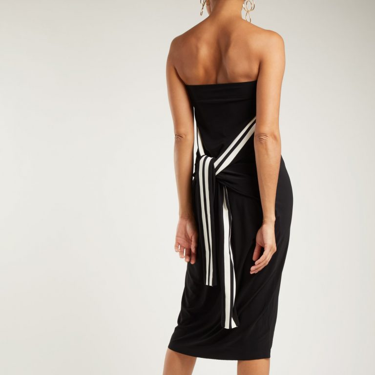 Norma Kamali - Striped Jersey Dress