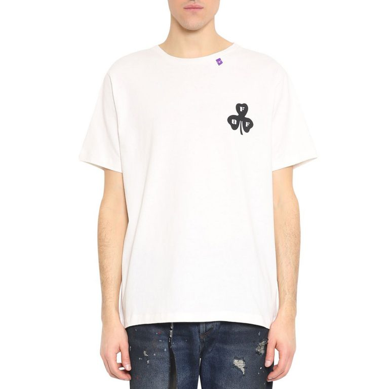 Off-White - Globe Cotton T-shirt