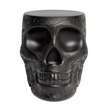 Qeeboo - Mexico Skull StoolSide Table Black