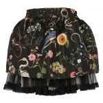 Red Valentino - Floral Skirt Black