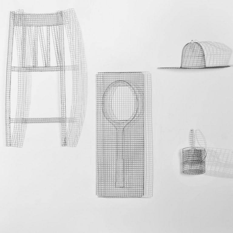 Serax - Tennis Racket Wire Netting Sculpture