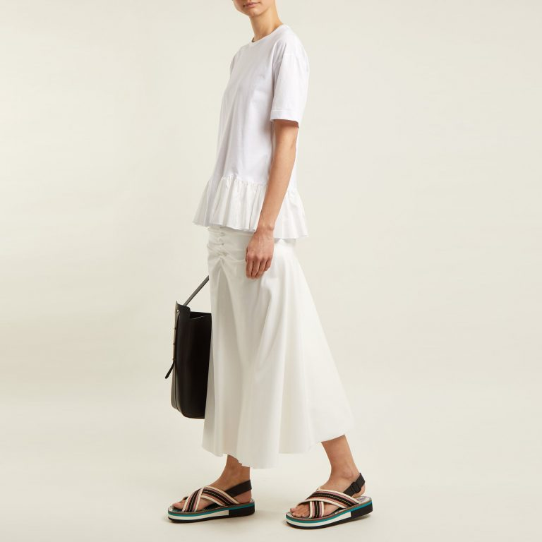 Stella McCartney - Organic Cotton Ruffle-Hem T-shirt