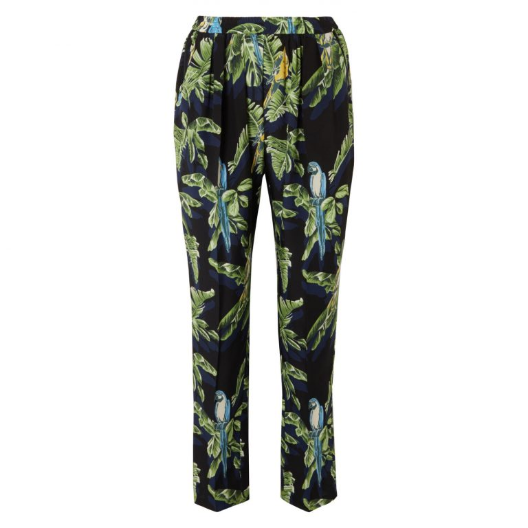 Stella McCartney - Printed silk crepe de chine tapered pants