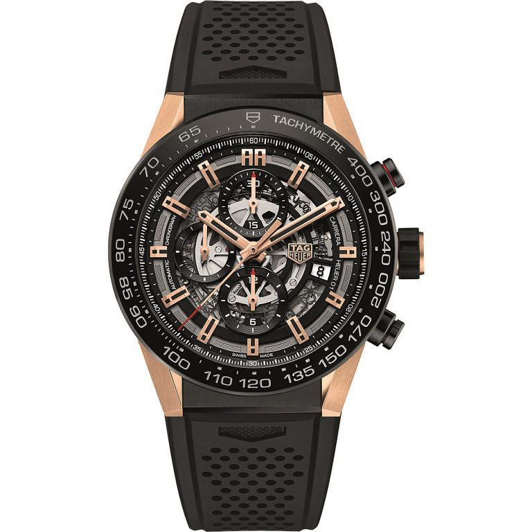 Tag Heuer - Tag Heuer - CAR2A5A.FT6044 Carrera Titanium & Rose-Gold Watch