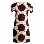 Valentino - Polka-Dot Wool-Silk Crepe Dress