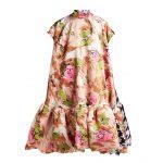 RICHARD QUINN - Contrasting-print A-line Satin Dress
